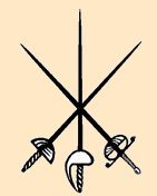 Fencing swords crossed
